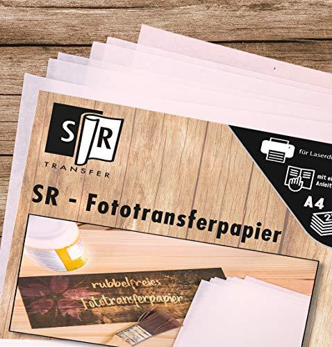 SR-Fototransferpapier *kein Rubbeln* (A4; 210 x 300mm)