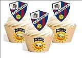 12 x Huesca Camiseta de Fútbol 2016-17 Decoración Comestible Personalizacion de Reposteria Feliz Cumpleanos