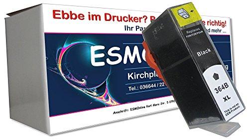 ESMOnline komp. XL Druckerpatrone Schwarz Ersatz für HP364BK