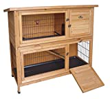 Easipet Wooden Rabbit or Guinea Pig Hutch - Two Tier (339)