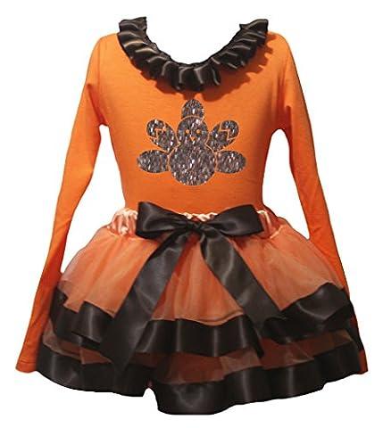 Turquie Dress Outfit - petitebelle Bling Turquie Orange L/S pour Femme