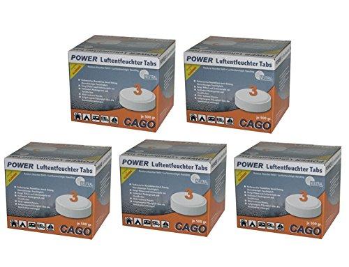 """Preisvergleich Produktbild Cago 5x Luftentfeuchter Tabs """"neutral"""" im 3er Set"""