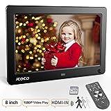 Digitaler Bilderrahmen 8 Zoll, OUTAD HD IPS LCD Display mit Bewegungssensor/Kalender/Uhr Funktion, Video Musik Foto E-Book Wiedergabe, mit Fernbedienung, 8G SD Karte