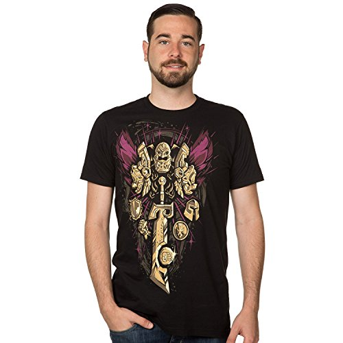 TAILAD World of Warcraft Paladin Legendary Class Men's Short Sleeve Black Tee Shirt TAILAD