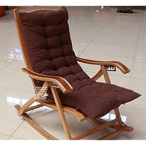 WHH Amortiguador la mecedora de la silla de salón sofá doble cojines silla cojín cojín cojín sillas silla de mimbre amortiguador , 5