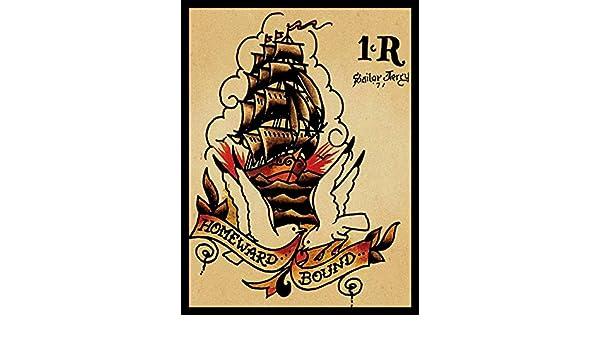 Sailor Jerry /Étain Mur Signe Affiche de Fer M/étal Mur /étain Panneau Attention Plaque R/étro d/écoration Murale pour Caf/é Bar H/ôtel Jardin Parc