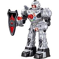 ThinkGizmos Robot teledirigido para niños – Robot Juguete Super Divertido - Baila, Lanza Dardos Suaves, Habla y Anda - RoboAttack