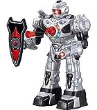 Robot Telecomandato per Bambini – Robot Giocattolo Divertente per Bambini – Balla, Lancia Morbidi Missili, Parla & Cammina - RoboAttack