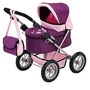 Bayer Design Doll Pram (Plum) - Purple