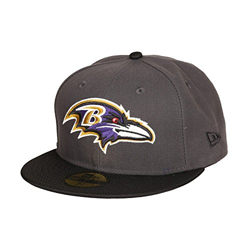 New Era NFL BALTIMORE RAVENS Ballistic Visor 59FIFTY Cap, 7.125, Charcoal