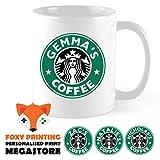 Novelty Print Face Masks Qualsiasi nome personalizzato-Starbucks Coffee mug/Cup-personalizzabile-qualsiasi nome-100% in lavastoviglie-Ottimo regalo per compleanno, Natale o novità
