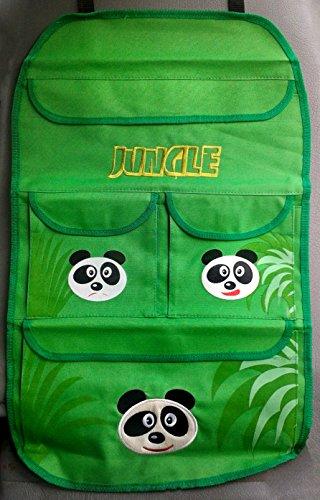 Carpoint Kids Kollektion Rücksitztasche Model Panda aus der Jungle Serie.Organizer Rückenlehnenschutz & Utensilientasche Sitzschoner Lehnenschutz Hecksitzschoner ...