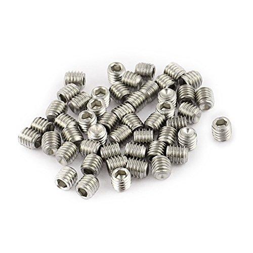 sourcingmap-50pcs-m3-x-3mm-stainless-steel-hex-socket-set-grub-screws-headless-cup-point