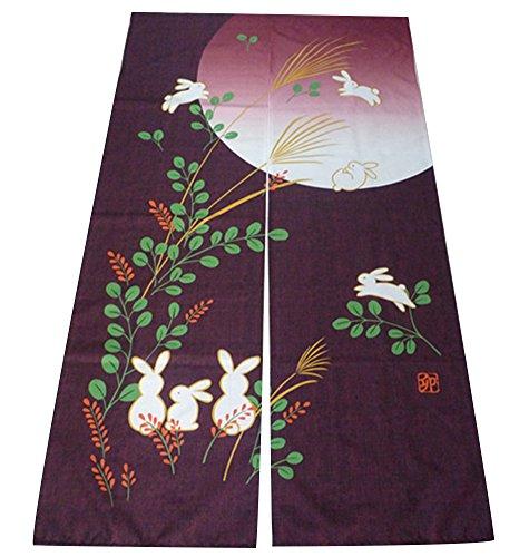 ster-Art japanischer Noren Vorhang & Doorway Vorhang 85x150 Der Mond Lila (Hippie-perlen-tür)