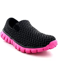 Womens Walking Super Lightweight Gym Sports Running Shoes Shock Absorbing Trainers