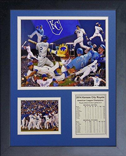 Legenden Sterben Nie 2014Kansas City Royals ALCS Champions gerahmtes Foto Collage, 11x 35,6cm