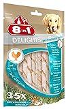 8in1 Delights Pro Dental Twisted Sticks (funktionaler und gesunder Kausnack, hochwertiges gedrehtes Hähnchenfleisch, Mineralien zur effektiven Plaqueentfernung bei Hunden), 35 Stück (190 g Beutel) - 2