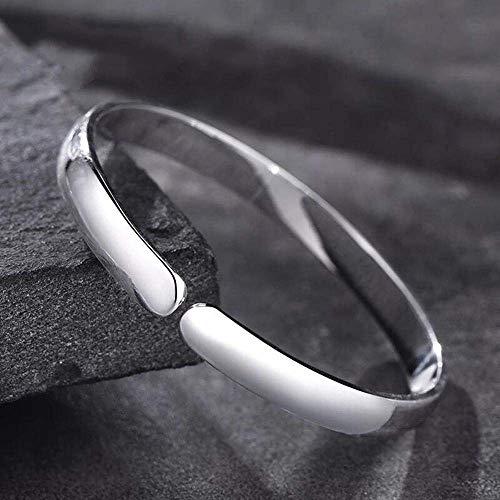 Stilvolle Armreif Charms 999 reines Silber Öffnung glattes einfaches Paar Armband senden Freundin Geschenk