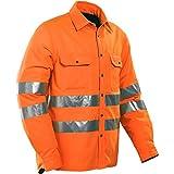 Jobman Gefüttertes Hemd, 1 Stück, XXXL, warnorange, 515667-3100-9