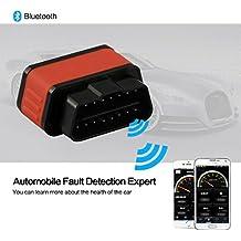 Bluetooth EOBD OBDII OBD 2coche Auto Interface Diagnóstico Android IOS Windows con ELM327adaptador
