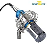 #10: Powerpak BM 800 Blue Silica Gel Professional Condenser Microphone With Metal Shock Mount (Requires Phantom Power Supply Or Sound Card Only )