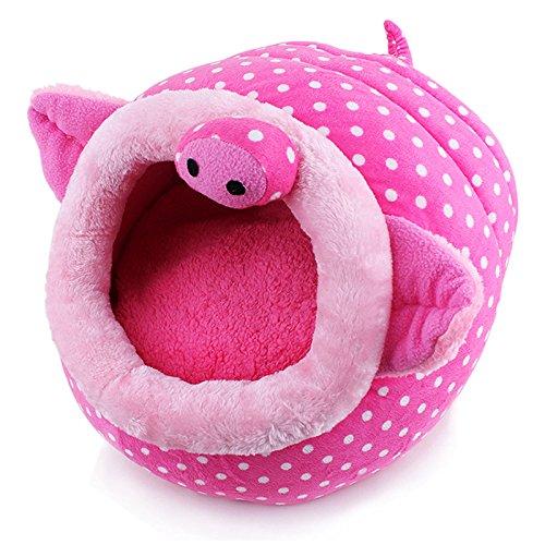e6aae91c5889 Generic Princesse pour Animal Domestique Cave Lit pour Chats et Chiens de  Petite Taille Rose Motif