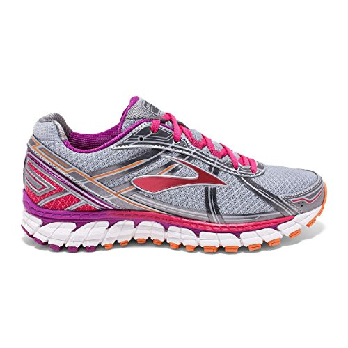 Brooks Defyance 9, Chaussures de Course Femme Multicolore (Silver/charcoal/paradisepink)