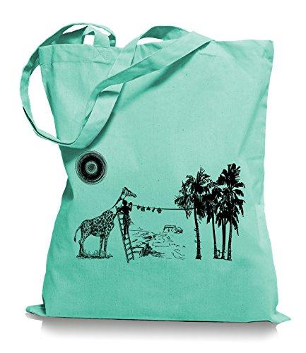 Ma2ca® Wash Day - Jutebeutel Stoffbeutel Tragetasche / Bag WM101 Mint