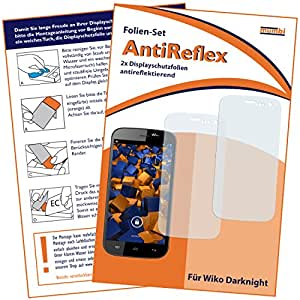 2 x mumbi Displayschutzfolie Wiko Darknight Schutzfolie AntiReflex matt