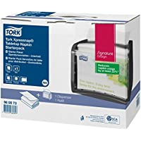 Tork 960073 Xpressnap Starter Pack/Tork Xpressnap Tischspender inkl. 1 Paket N4 Spenderservietten in Weiß