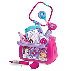18 Inch Doll Pretend Medical Kit. Complete Medical Kit With Stethoscope, Blood Pressure Cuff, Otoscope, Syringe, Thermometer, Bandage, Clipboard, Pencil, Chart, All Inside A Medical Bag
