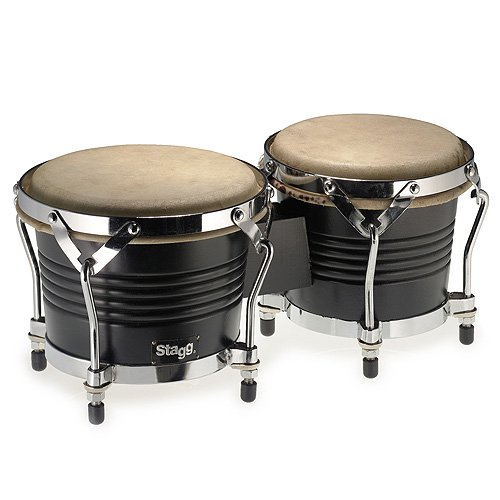 STAGG BW 200 BK   LATIN WOOD BONGOS DE 7 5 Y 6 5  COLOR NEGRO