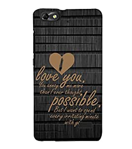 PrintVisa Designer Back Case Cover for Huawei Honor 4C :: Huawei G Play Mini (Soulmates Quote)