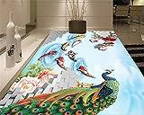 Xcmb Kreative Wohnzimmer Boden Schlafzimmer Stereo China Wind Pfau Hd Bodenfliese 3D Bodenbelag -400Cmx280Cm