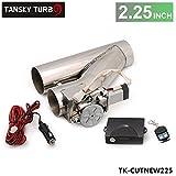 5,7cm in acciaio INOX motorizzato elettrico valvola di scarico cut-off bypass ritaglio + telecomando tk-cutnew225