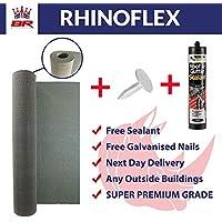 RHINOFLEX Super Premium Shed Felt   Tear-Proof   Extremely Flexible   10m x 1m   25Kg'Super Premium Shed Felt   Tear-Proof   Extremely Flexible   10m x 1m   25Kg