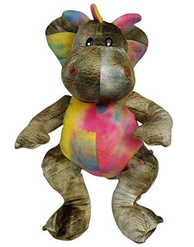 Stuffems Toy Shop Nehmen Sie Ihre eigene Plüsch 16-Zoll-Rosa u Green Dragon - Ready 2 Liebe in EIN Paar einfachen Schritten - Baby-schritte Tie Dye