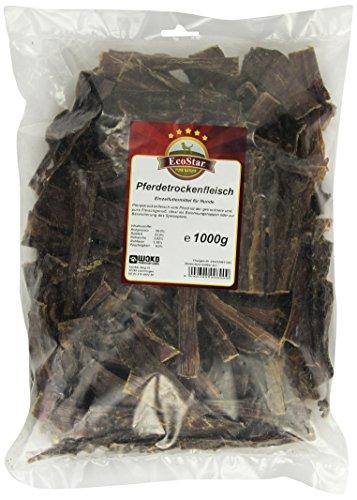 EcoStar Perros Snack Caballos en seco Carne 1kg, 1er Pack (1x 1kg)
