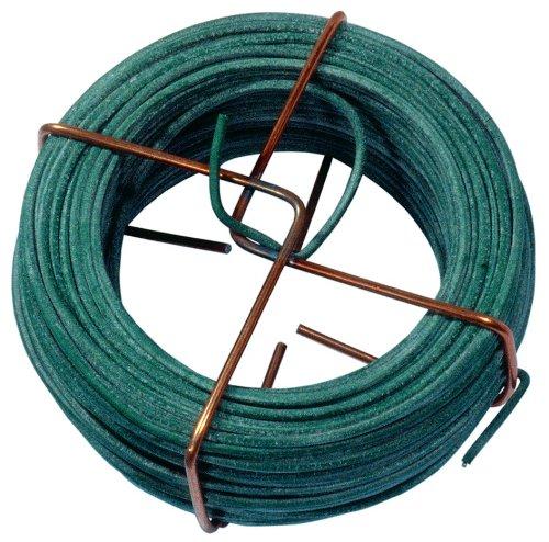 Connex FLOR78620 Fil de Fer avec Gaine en Plastique Vert 2 mm x 30 m