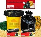 #7: Shalimar Premium Garbage Bags (Extra Large) Size 76 cm x 94 cm 6 Rolls (90 Bags) (Trash Bag/ Dustbin Bag)