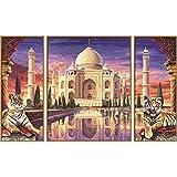 Taj Mahal – Denkmal ewiger Liebe Malen nach Zahlen Schipper 80 x 50 cm Triptychon