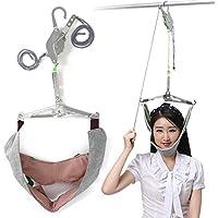 Essort tracción cervical cuello, dispositivo de tracción del cuello, mentoniera para tracción, Kit Volante con cuello al cuello, 74x 60cm