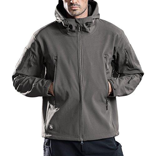 the best attitude cd006 0f1b5 Free Soldier uomini impermeabile Crew Midlayer con cappuccio giacca  antivento escursioni Ski Mountain in pile Softshell Giacca