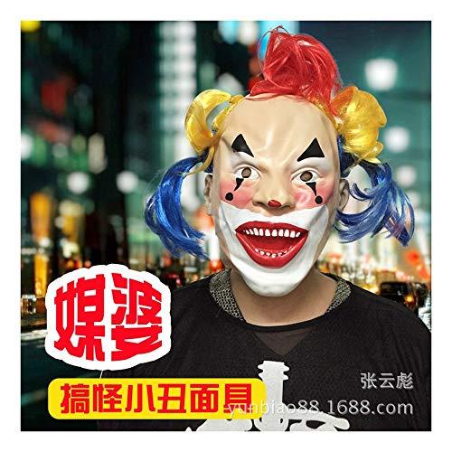 SCLMJ Lustige Farbe Clown Maske Halloween Kostüm Ball Kostüm Maskerade Maske