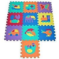 TLCmat® Soft Foam Interlocking Play Mat Puzzle Jigsaw with Animal and Transportation