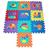 Soft Foam Play Mat Puzzle with Animal and Transportation Pop-Out