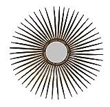 Sonnenspiegel Wandspiegel Rundspiegel Spiegel Metall Sonne Antik Kupfer Retro Vintage Design