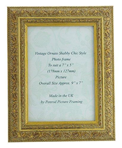 Oro antiguo Shabby Chic diseño Vintage Marco de fotos para un 6'x 4'–16'x 12' fotos.,...