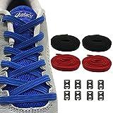Ueither Sin Corbata Cordones Elásticos para Zapatos, Plana Un tamaño Cordones de Los Zapatos para Niños y Adultos - compatibles con todos los zapatos(2 Pares)