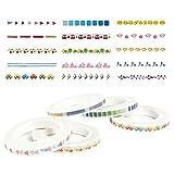 Washi Tapes Japanisches farbigen Maskierung Tapes Slim Dekorative Tapes Art Aufkleber für Scrapbooking Partys Festivals 5mm x 7m 5Packungen zufällig